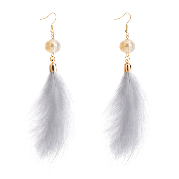 Wholesale Europe And The United States Brand White Feather Earrings Women Earrings Featured Image