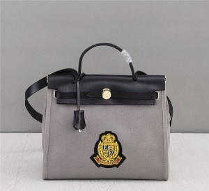 OEM Made Italian Designer Tote Bags High Quality Kelly Canvas Bags Matching Embroidery Logo