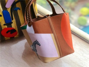 High Quality Mix -color Women Lychee Calfskin Bucket Bag from Bags Factory