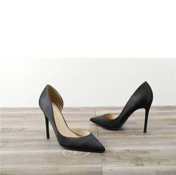 Drop-ship In Store Black Satin Silk Sexy Pumps Shoes Featured Image