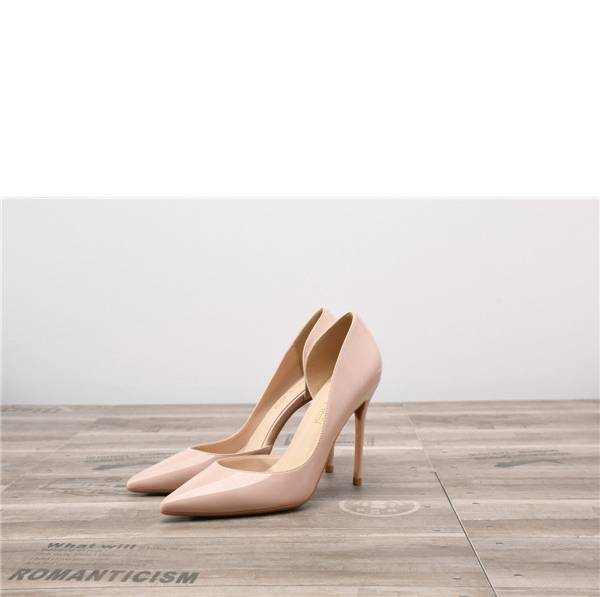 Drop-ship In Store Nude Patent Leather Pumps Shoes Featured Image