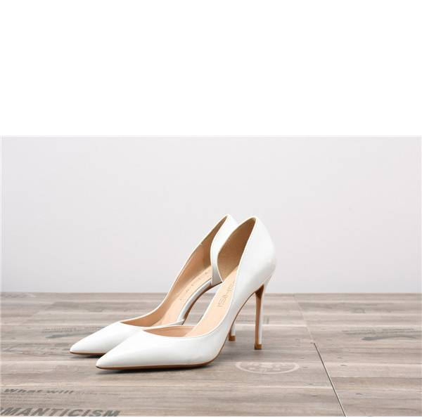 Drop-ship In Store White Patent Leather Party Pumps Featured Image