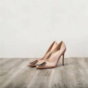 Nude Silk Satin Shoes Ladies