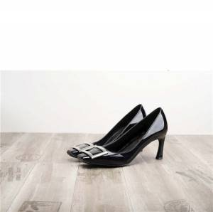 Dropship Black Patent Leather Shoes For ladies Heels