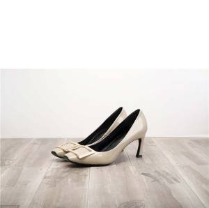Worldwide Drop-ship Grey Pumps Shoes For Women