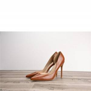 Drop-ship In Store Tan Leather Women Pumps