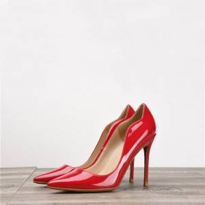 Red Patent Leather Shoes Womens