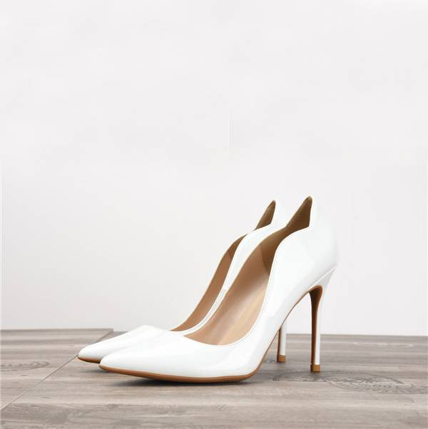 White Patent Leather Fashion High Heel Shoes Women'S Party Heels Featured Image