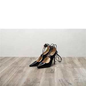 Drop-ship In Store Black Patent Leather women Fine Heel Shoes
