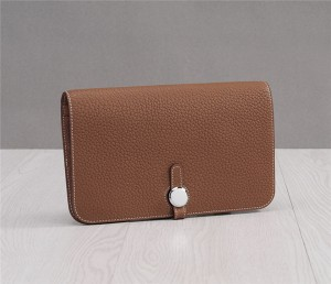 Tan Leather Buckle Wallets