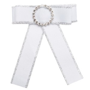 Nice Quality White Bow Corsage Beautiful Girls Boutonniere Multi-Layer Canvas Corsage Bohemian Necklace