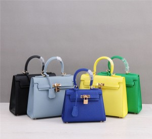 OEM Made Calfskin Tote Bags Handbags Mini Women Purses Epsom