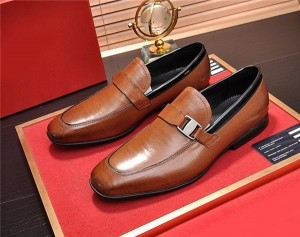 OEM Men Formal Shoes Man Suprior Quality Tan Le...