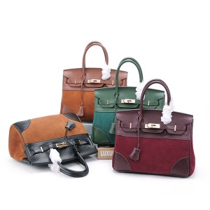 High Quality Famous Brand Bags Ladies Bags Suede