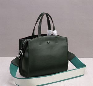 Green Cowhide Leather Satchel Bags Women Handbags
