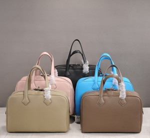 Custom Made High Quality Big Luggage For Ladies Cowhide Leather Boston Bag