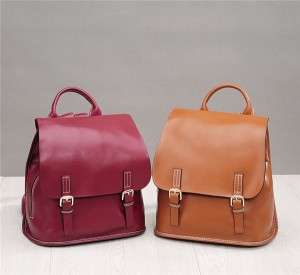 High Quality Soft Leather Backpacks Fashion Oil...