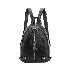 High Quality Real Leather Backpacks Black