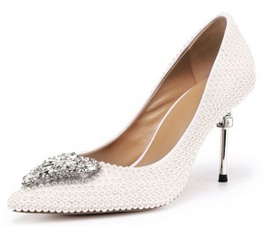 Women Crystal Heel Shoes