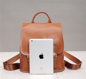 High Quality Soft Leather Backpacks Fashion Oil Wax Leather Backpack