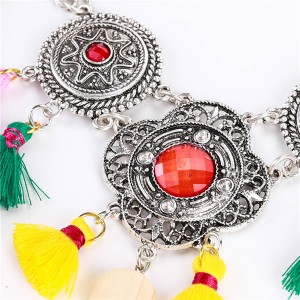 Most Popular Tassel Necklace Europe And The United States Famous Brand Collarbone Chain Necklace