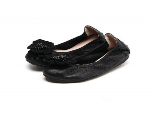 Women Sheepskin Soft Comfortable Foldable flat ...