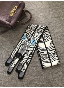 Popular Small Tiger Leopard Printing Silk Scarf For Bag Accessory Factory