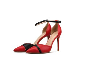 Best Selling Fashion Sandals Red Leather Stilettos