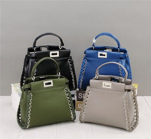 OEM Made Braid Leather Strap Shoulder Bags Natural Cowskin Handbags Famous Brand