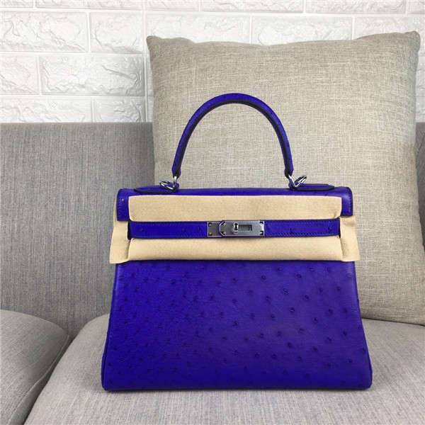 High Quality Fashion Violet Ostrich Leather Fashion Brand Bags 28cm 32cm Featured Image