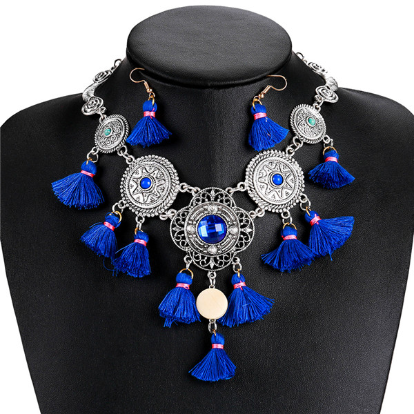 Most popular blue tassel necklace Europe and the United States famous brand necklace Featured Image