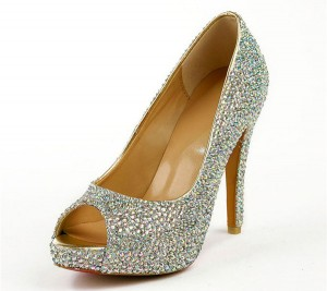 Colorful Rhinestone 12cm Gorgerous Pumps For Women