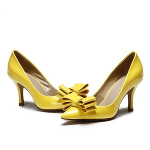 Wholesale Yellow Patent Leather Shoes For Lady