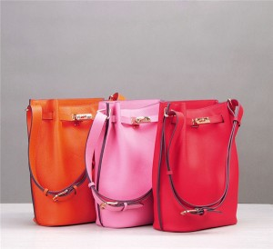 High Quality Stylish Cowskin Basket Bags For La...