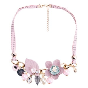 Pink Collarbone Chain Necklace Women Fashion Necklace Female Bohemian Style Necklace Pretty Neckwear Supplier