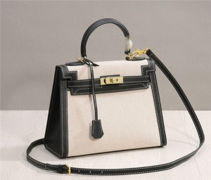 Factory OEM Made Nice Quality Luxury Brand Handbags Canvas Bags Handbags Kelly