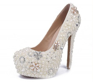 16cm High Heel White Crystal Rhinestone Women Luxury Designer Shoes