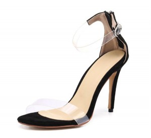 Hot Sale Women Exquisite Beautiful Stiletto Sandals Black