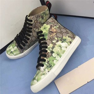 High Quality PVC Printed Fabric Sneakers Men'S Ankle Sneakers
