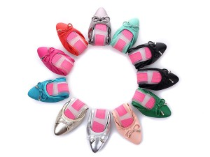 Designer Foldable Flat Shoes Women Comfortable Driving Shoes With Pink Transparent Sole