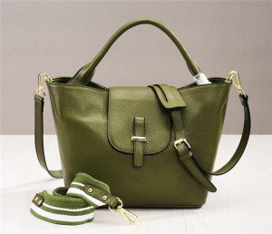 Western Style Grey Soft Leather Ladies Bag Hand Bags Women
