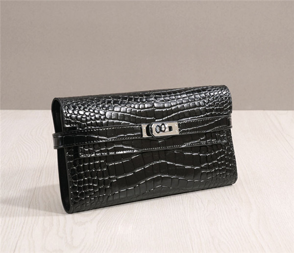 Black Crocodile Leather Wallets High Quality Featured Image