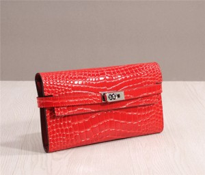 High Quality Crocodile Leather Wallets Alligator Grain Leather Wallets Buckle Wallets