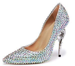 Colorful Rhinestone Diamond Private Label Shoes