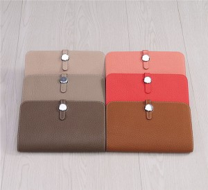 Custom Private Logo Wallets For Women Famous Brand Wallets Tan Leather