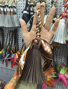 Bag Hanging Aceesory Coffee Leather Tassel For Bag Accessories