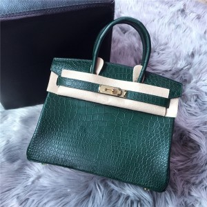 High Quality Famous Brand Crocodile Grain Bags Handbags Women 30cm 35cm