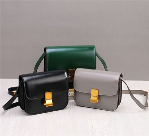 Western Style Mini Square Bag Cowhide Leather Ladies Bags In China