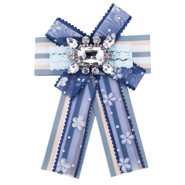 Nice Quality Blue Ribbon Floral Grosgrain Ribbon Corsage Silk Bow Corsage Factory Featured Image