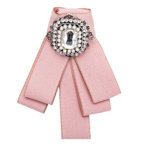 Pink Multi-Layer Canvas Corsage Circle Rhinestone-Studded Brooch Students Corsage Bohemian Necklace Ladies Dragonfly Corsage Factory
